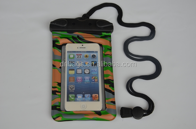 Fashion pvc lining waterproof bag for iphone 5s for underwater swimming