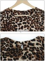 Женская футболка New Sexy Women Girl Long Sleeve Leopard T-shirt Slim Casual Cotton Tops Two Colors 18487 b012