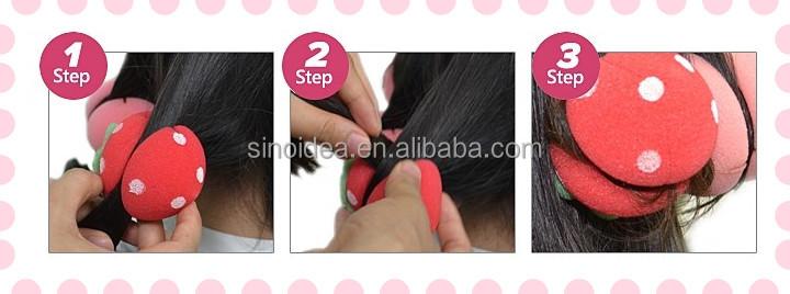 Estrellas esponja bola de pelo/rojo precioso y lindo esponja rodillo de pelo rizado