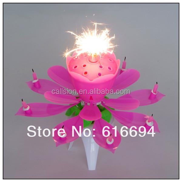 Firework rotating music open flower birthday candle.jpg.jpg