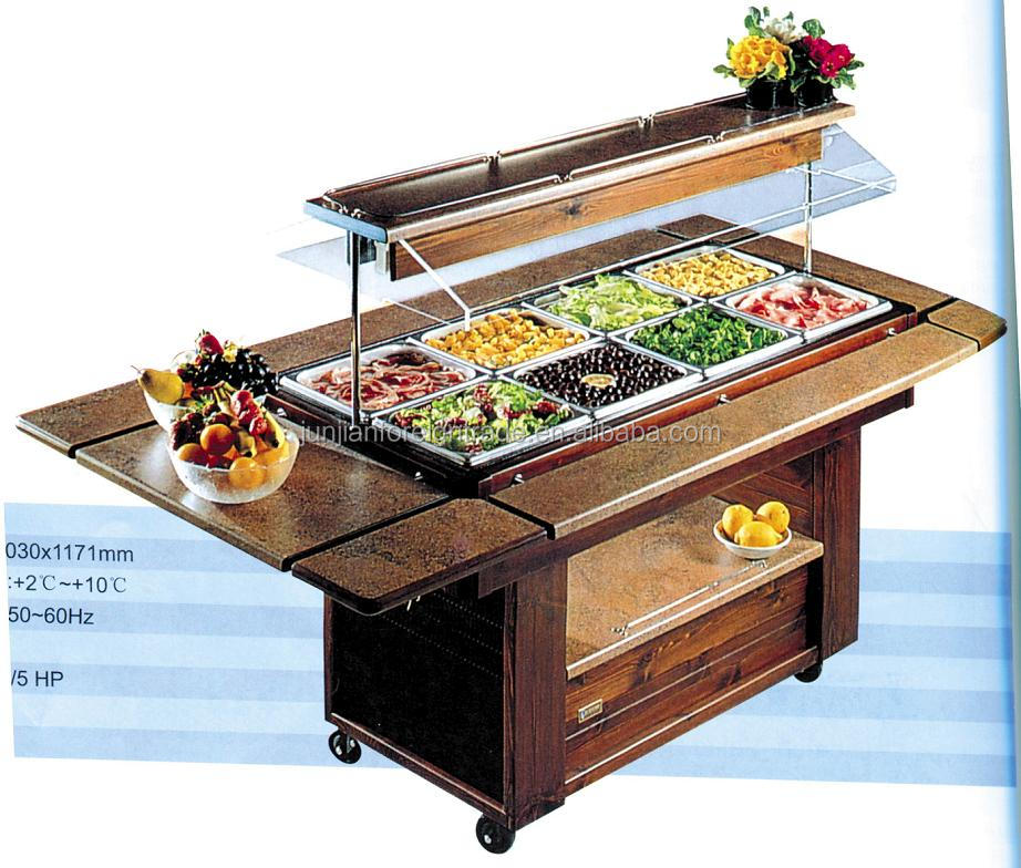 Luxury marble salad bar display counter commercial for Food bar manufacturers