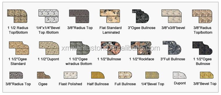 Tan Brown 3cm Granite Countertops Ogee And Demi Bullnose ...