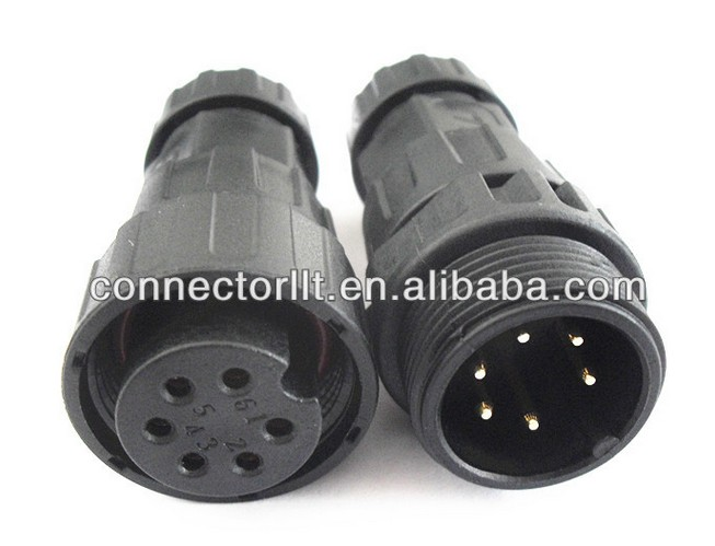 Field Assembly Cable To Cable Waterproof 6 Pin Connector
