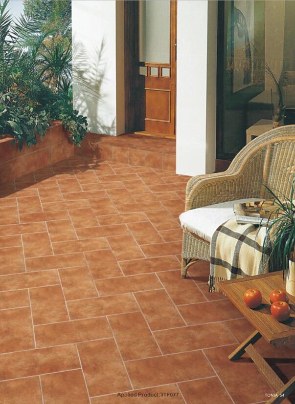 Interlocking Ceramic Tile Floors Orange Mix Blackspot Rustic Tile