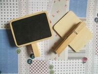 20шт Симпатичные мини-деревянные доски классные скрепки сообщение Совета дети мелом Совет knvwa