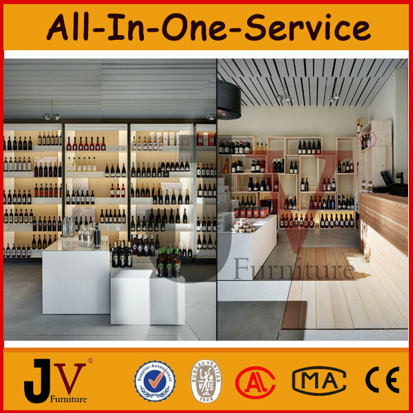 Decoration for wine shop wine display cabinet and stand for Wine shop decoration