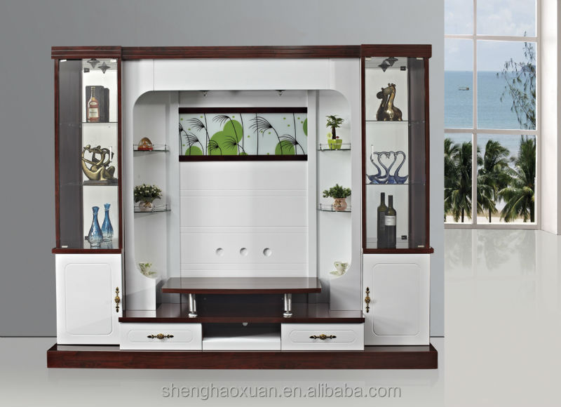 Shx Design Living Room Tv Set Furniture 9905# Led Tv Wall ...