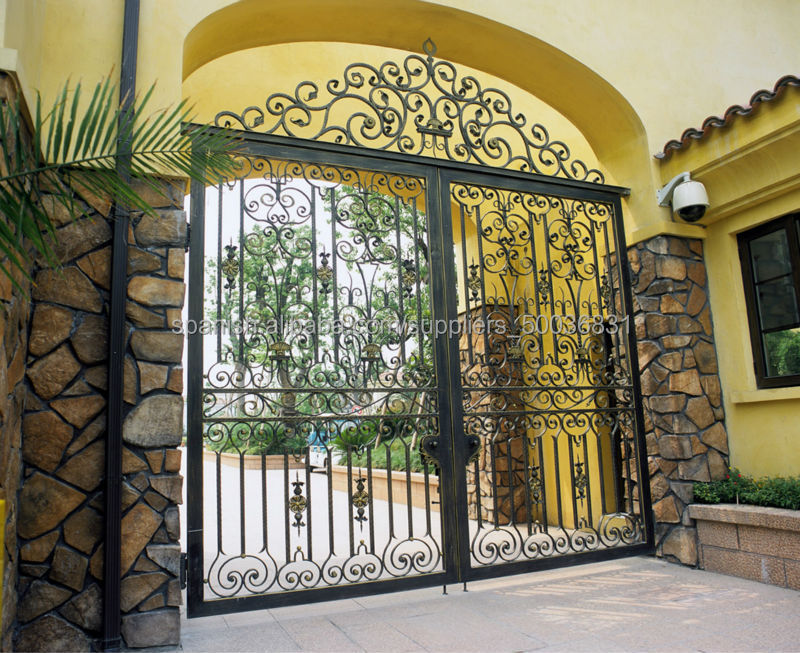 Puerta para jardin grandes puertas para la entrada de tu jardn puerta para jardn de aluminio - Puertas de hierro para jardin ...