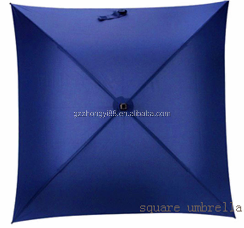 China supplier offer polyester pongee square wholesale cheap umbrellas