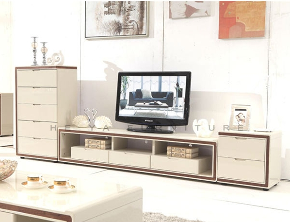 Luxury mdf tv table , modern design wooden led plasma tv ...