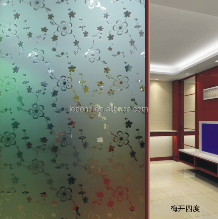 Acid Etched Decorative Glass For Door Partition Shower Room Office With Laminated Glass Sandwich