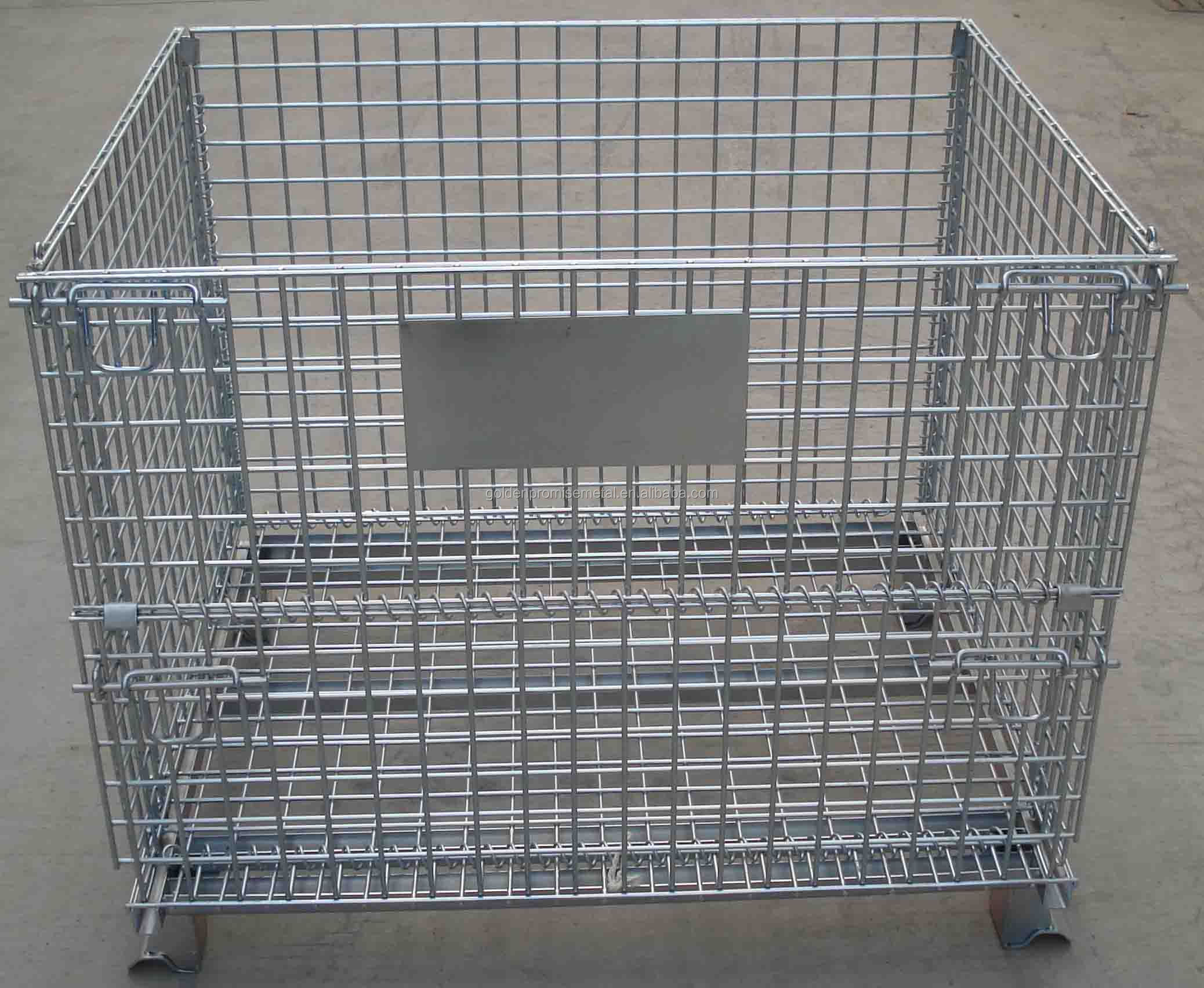 Stacking metal wire mesh pallet cage buy
