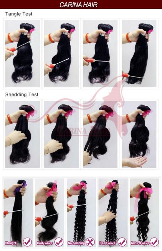 Carina Hair Products Free shipping Natural Wave 16&18&20&22inch Natural Black Brazilian Remy Hair