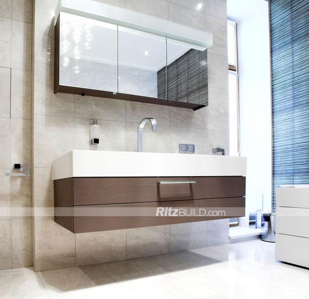 Mob lia do banheiro gabinete moderna casa de banho hotel for Modelos de armarios modernos