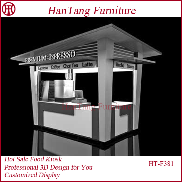 Mall Indoor Coffee Kiosk Design Wood With