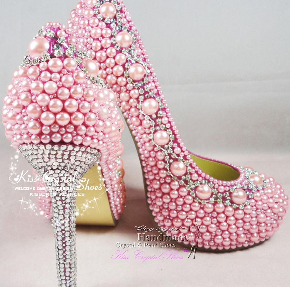 Pink Jeweled Heels - Is Heel