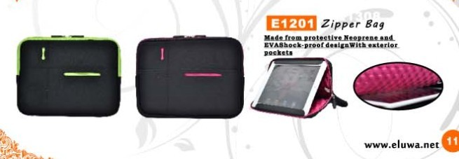 Shockproof neoprene and EVA laptop sleeve