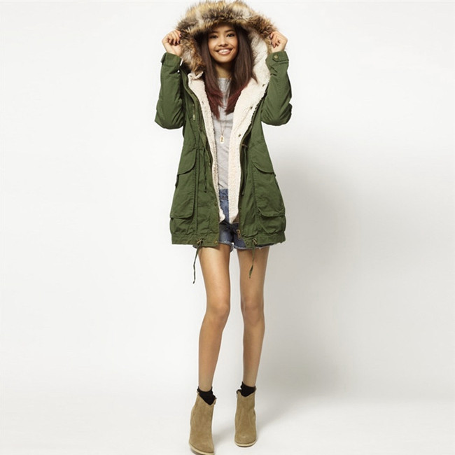 Girls Green Parka Coat | Down Coat