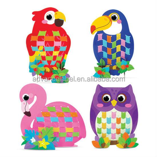 Mon premier tissage kit oiseaux forestiers arts - Bricolage simple pour enfant ...
