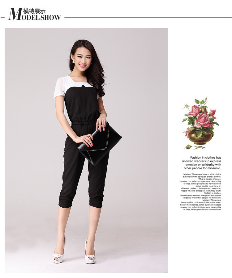 91e13f2a8ff European Style Black And White Women Casual Jumpsuit Slim Elegant Ladies  Jumpsuits 2015. 8622 01 8622 06 8622 11 8622 12 8622 14 8622 02