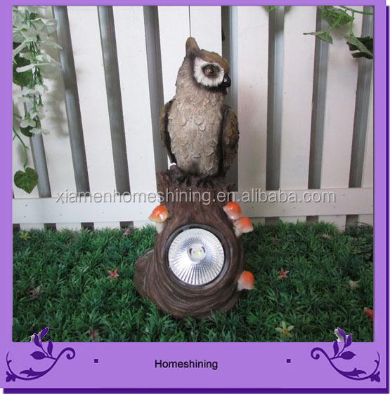 owl garden solar spot light