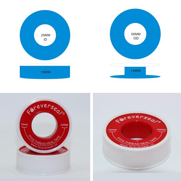 Белый стандартный птфэ нитки упаковочные ленты - печать ленты -- 12 мм Ptfe ленты