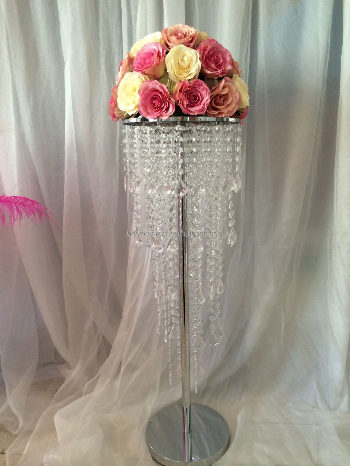Crystal Chandelier Wedding Table Centerpieces