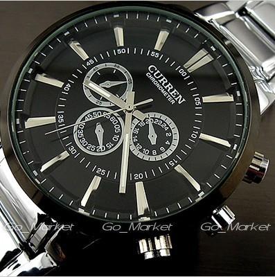 Curren relogios masculinos роскошь марка часы мужчины часы кварцевый бизнес свободного покроя наручные часы полный сталь мужчины часы