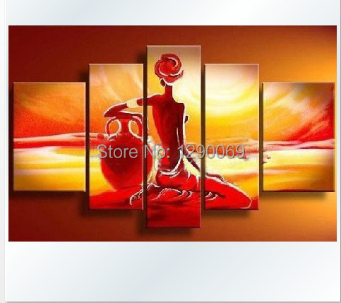 store product pcs indian nude woman painting wall art canvas oil paintings abstract pictures