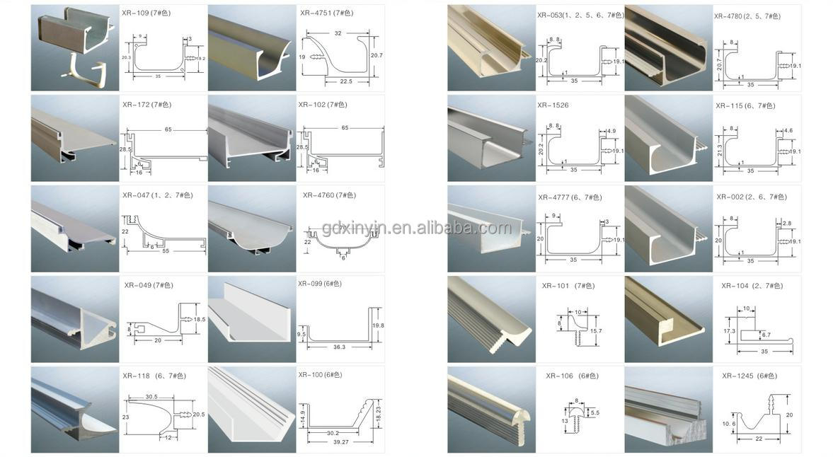 Perfiles de aluminio precios elegant perfil aluminio para for Perfiles aluminio para muebles