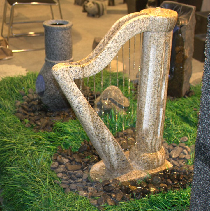 Home Garden Stone Water Fountain Water Strings Designed