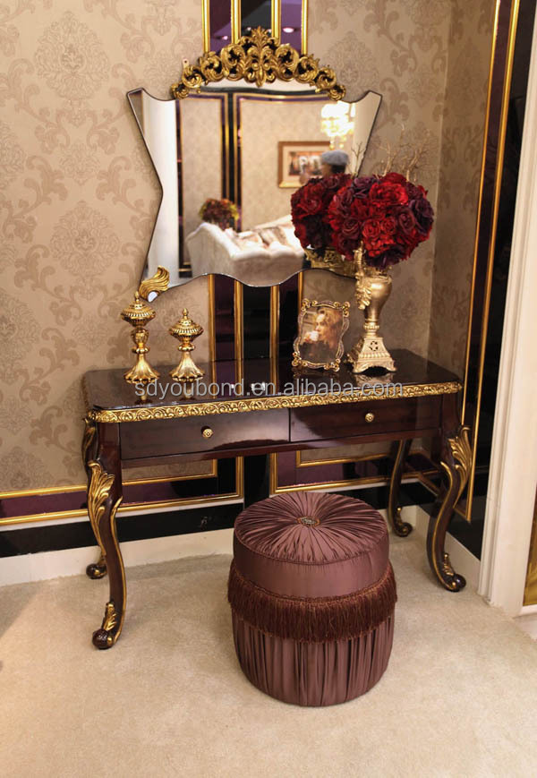 0063 High Quality Luxury Royal Antique Wooden Carving Arabic Style Bedroom Furniture Sets