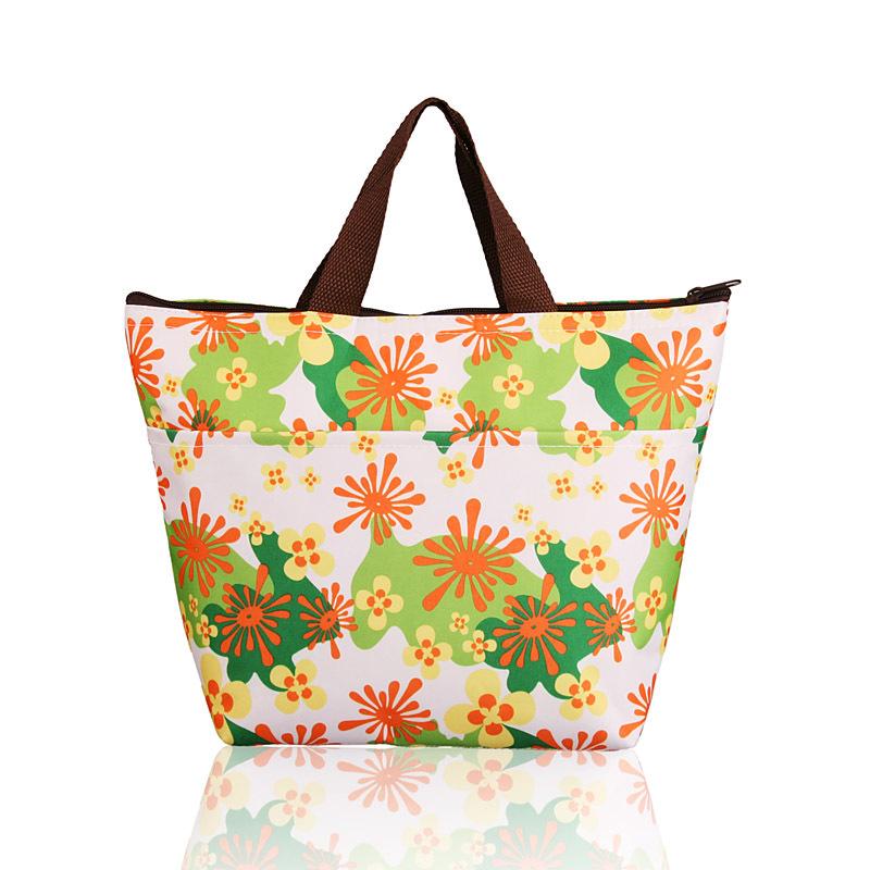 Flower Oxford Picnic Thermal Bag Neoprene Lunch Bag Food Cooler Bags Thermal Женщины Handbag Женщины Messenger Bags