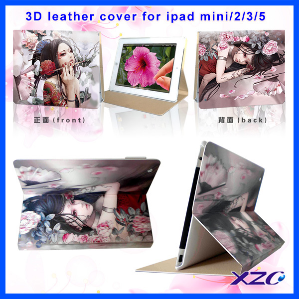 most fashion and special 3D pattern protective case for ipad case