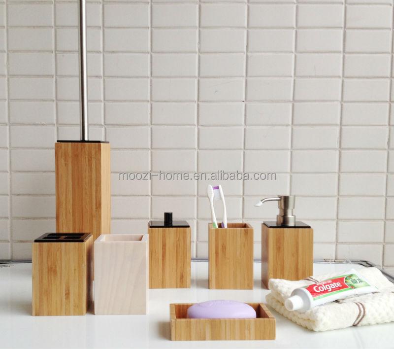 Badkamer accessoires set hout badkamer ontwerp idee n voor uw huis samen met - Gemeubleerde salle de bains ontwerp ...