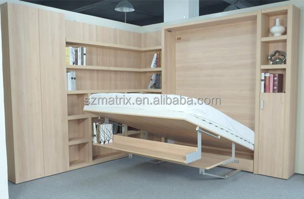 Duplo mecanismo de cama da parede moderna com smart - Cama plegable pared ...