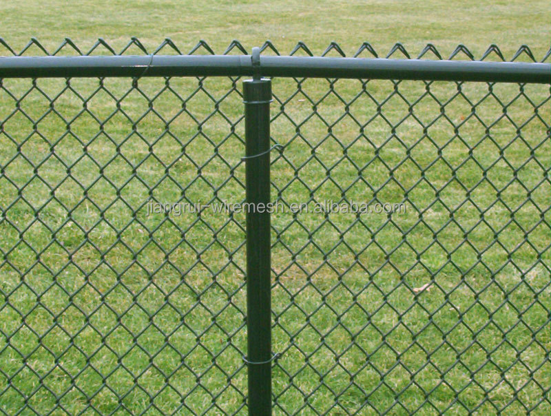 Low Carbon Steel Plastic Coated Dog Proof Chain Link Fence