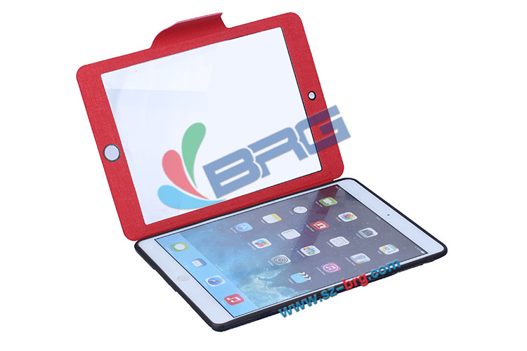 BRG-Low Price for ipad 5 leather case,Folio Leather Smart Cover for ipad 5 pu case