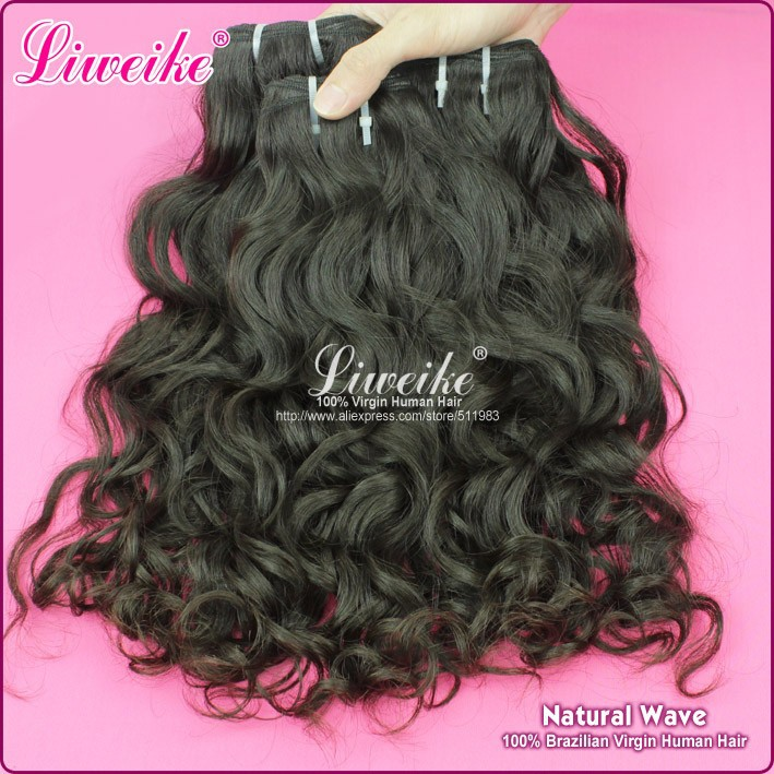 Free Shipping brazilian virgin human hair extension natural wave 1B, 3.5OZ/pcs can be dye DHL fast delivery