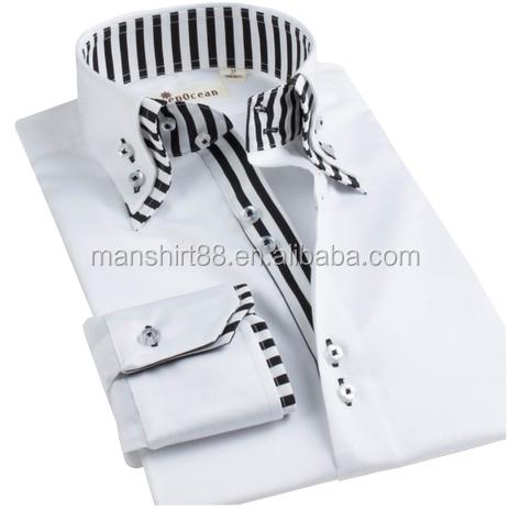 2013 New Design Men 39 S Contrast High Collar Double Collar