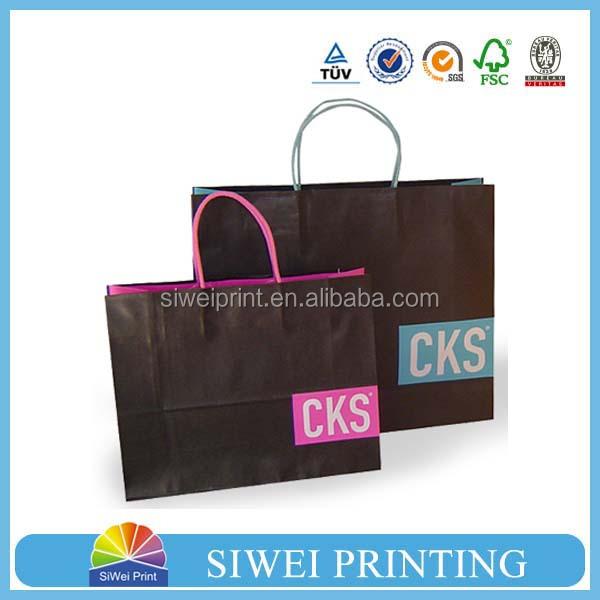 2014 cheap customized white kraft paper bag/craft paper bag/brown paper bag wholesale
