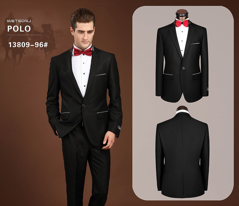 2018 Wholesale 2015 Men Brand Formal Dress Suits Fashion 2 Buttons ...