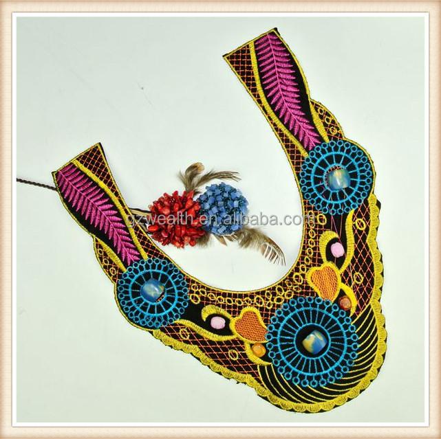 modas cuello bordado de cuentas los patrones para el vestido de dama ...