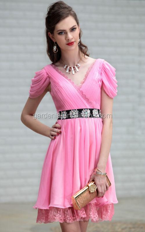 de color rosa vestido corto negro corto la correa mini vestidos ...