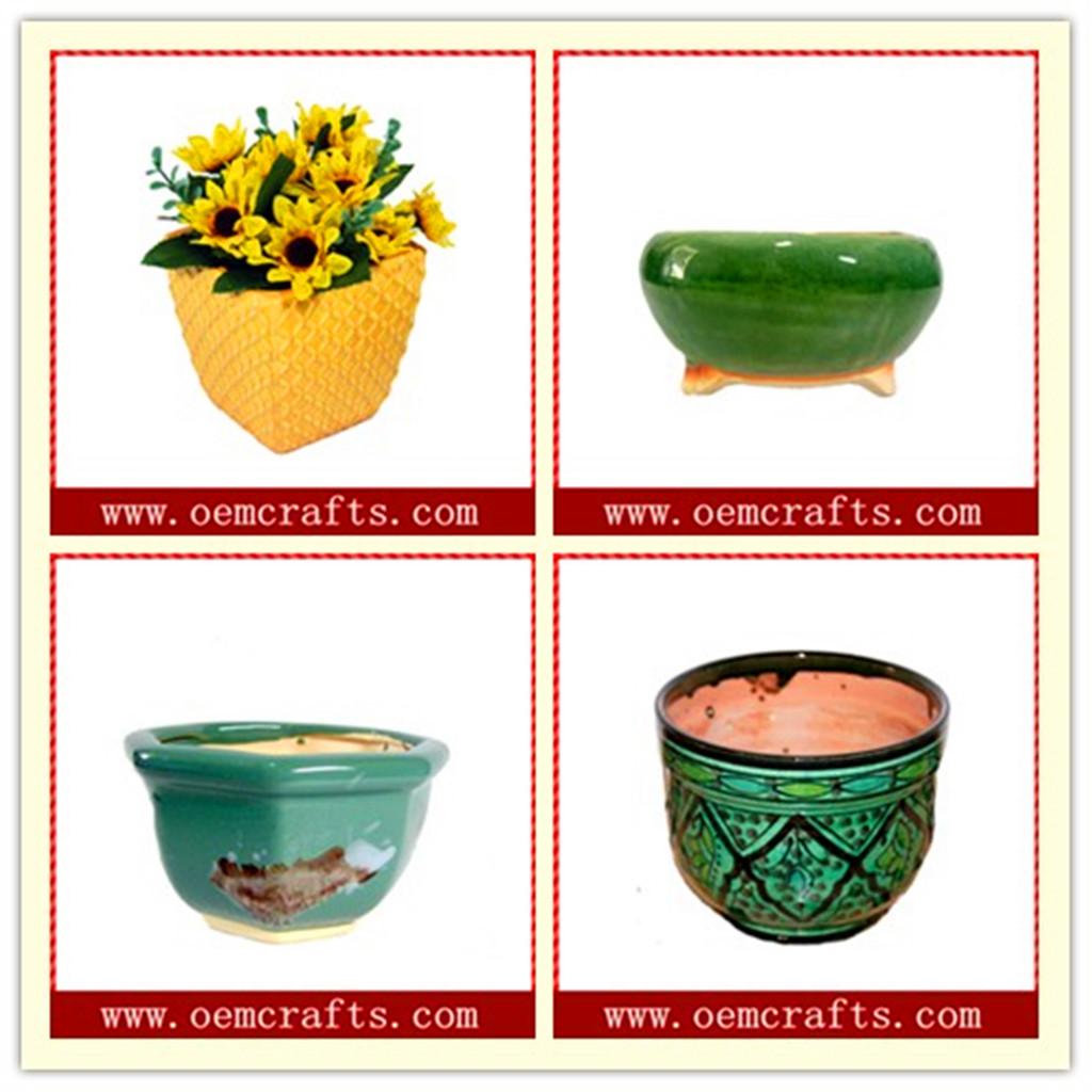 Wholesale Flower Pot Decorative Cute Bee Ceramic Seed Planter