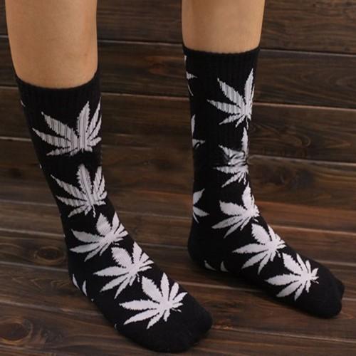 унисекс растений марихуаны конопли печати Плантлайф сорняков лист жизни экипажа высокие носки [240518