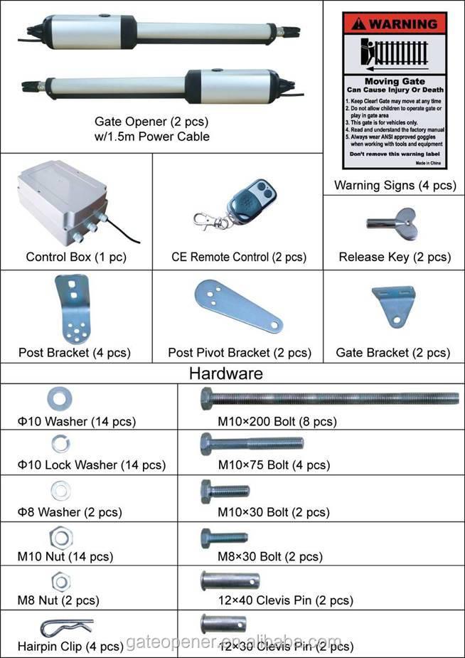 Manual swing gate openers/ Remote control swing gate ...