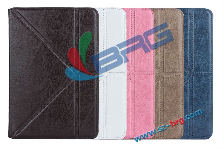 BRG-For iPad Mini 2 Stand Leather Case,wholesale price pu case for ipad mini 2
