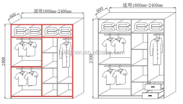 standard wardrobe dimensions
