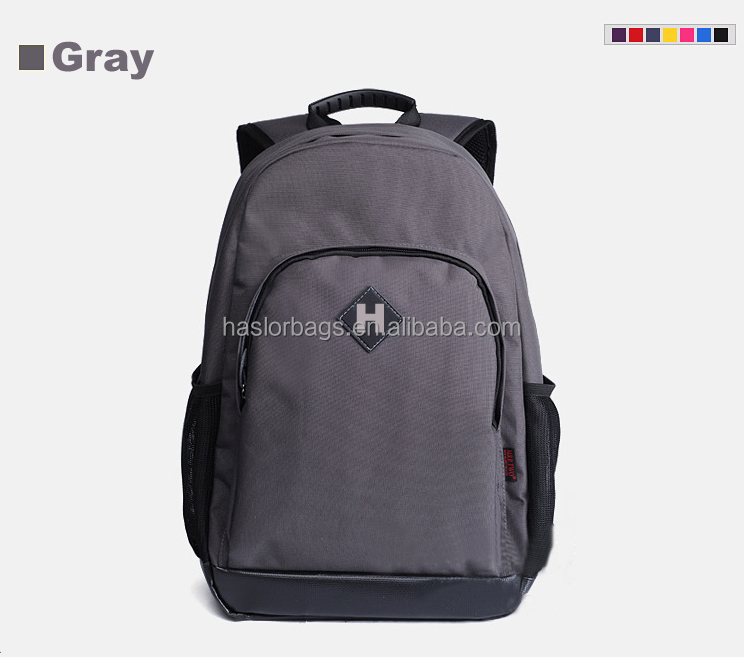 Backpack Manufacturer Polyester Simple Laptop Backpacks Design for High School Computer Bag